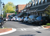 Downtown Blue Ridge, GA with quaint restaurants and shops.