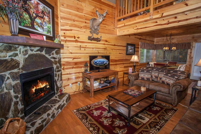 Wooded cabin has 2 bedrooms/2 bathrooms that is dog friendly ($30 FEE APPLIES), located inside a gated resort community and only a short drive to ellijay and blue ridge.