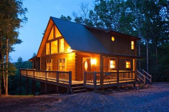 Rental cabin in the Aska Adventure Area outside of Blue Ridge, GA.
