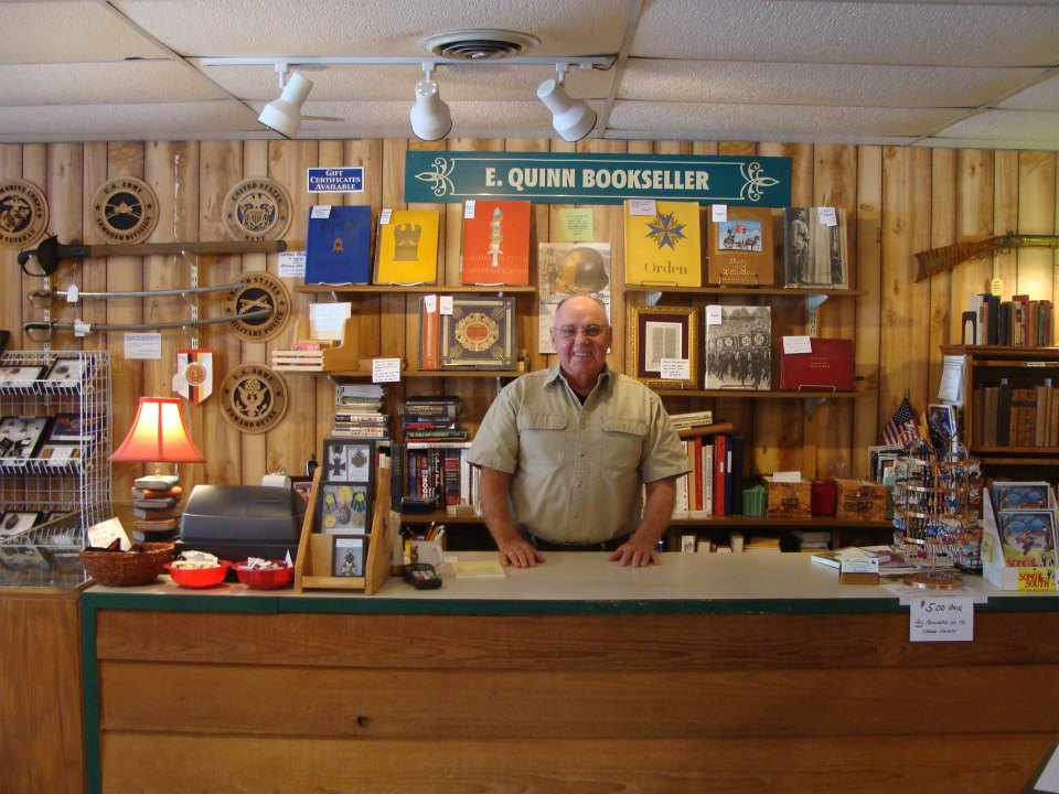 E Quinn Bookseller in downtown Blue Ridge, GA a perfect place to visit when vacationing at Blue Sky Cabin Rentals