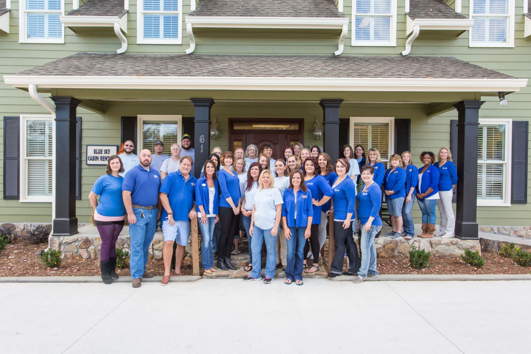 The amazing team at Blue Sky Cabin Rentals! Taken Oct. 2016.