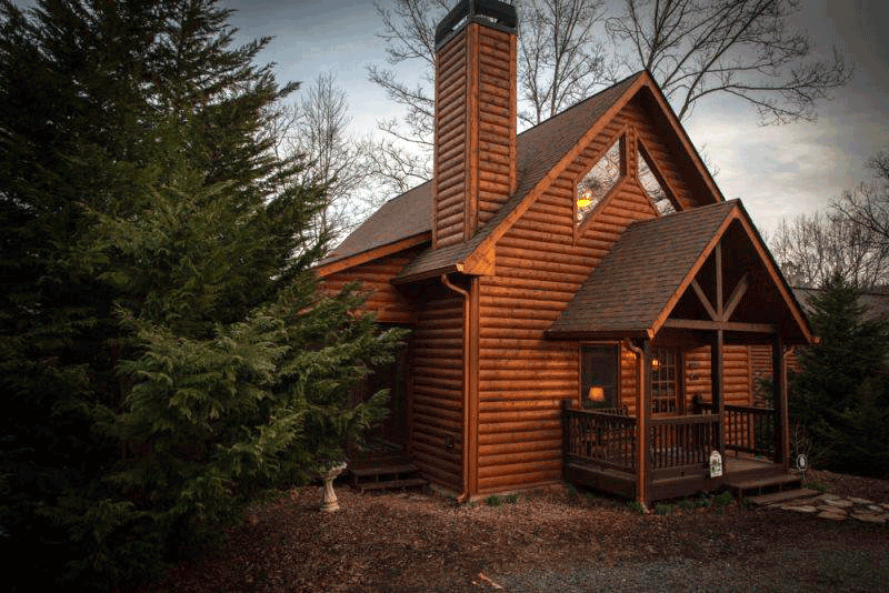 two bedroom, three bath dog friendly ellijay rental cabin image of outside